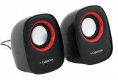 Classone K3000 Classone Q1 Serisi K3000 1+1 Usb 2.0 Hoparlör Siyah Kırmızı