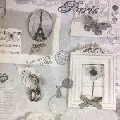 Ithal Çiçek Desenli Duvar Kağıdı (Parıs Sılver) 31,90tl