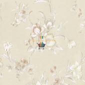 Fashıon Çiçek Desenli Duvar Kağıdı