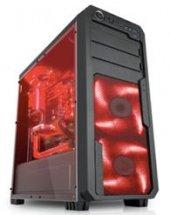 Dark 750w Sentınel Full Akrilik Yan Panel 3x12cm 33x Ledli Fanlı Oyuncu Kasa Dkchsentınel750