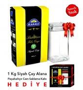 Premium Filiz Çay 1 Kg Cam Saklama Kabı Hediye