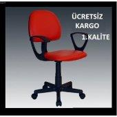 Vural Kırmızı Büro Ofis Koltuğu Sandalyesi