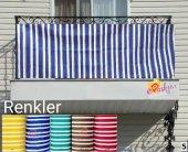 Balkon Demirine Perde Balkon Perdesi 80x260 5 Farklı Renk Fark