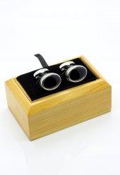 Siyah Oval Kol Düğmesi Kd230