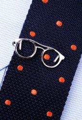 Gözlük Gümüş Kravat İğnesi Kıy10