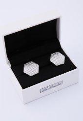 Gümüş Renk Kol Düğmesi Kd201