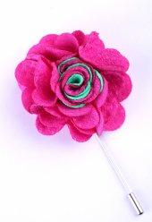 Fuşya Yeşil Özel Tasarım Yaka Çiçeği Yc0069