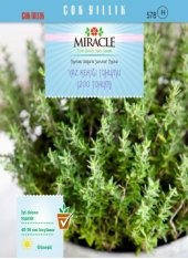 Miracle Yaz Kekiği Tohumu (200 Tohum) 50 Adet