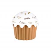 Plastik Cupcake Görünümlü Saklama Kabı (550 Ml) Asorti
