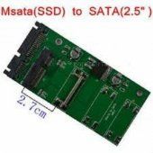 Msata To Sata 2.7cm Mini Pcı E Harddisk Adaptör