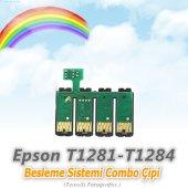 Epson T1281 T1284 Uyumlu Besleme Sistemi Combo Çipi