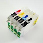 Epson T0711 T0714 Uyumlu Kolay Dolan Kartuş 4 Renk