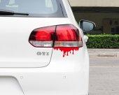 Kan İzi Araba Yapıştırma Sticker