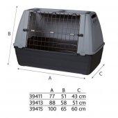 Trixie Metal Kapılı Plastik Köpek Taşıma Kafesi M 88x58x51 Cm