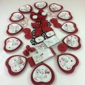 Keramika 12 Kişilik 57 Parça Kalp Peri Masalı Aşk Kahvaltı Takımı