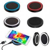 Siyah Renkli Wıreless Kablosuz Şarj Aleti Micro Usb Kablo Hediyeli