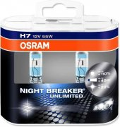 Osram H7 Night Breaker Unlimited 2&#039 Li Ampul Seti 6421nbu