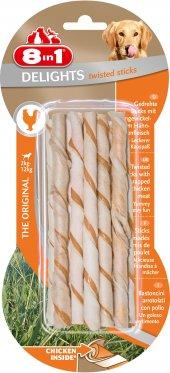 8in1 Delight Twisted Sticks Tavuklu Burgu Köpek Ödülü