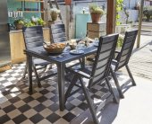 Brasilia Futura Masa Sandalye Takımı Bahçe Balkon Katlanan Sandal