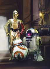 4 447 Komar Star Wars Three Droids Çocuk Duvar Kağıdı