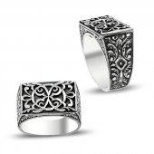 Erzurum El İşi Gümüş Erkek Yüzüğü