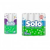 Solo Normal Tuvalet Kağıdı 32'li Ve Kağıt Havlu 12'li