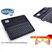 Addison Als 77 Siyah Bluetooth Tablet Pc + İpad Alüminyum Q Multimedia Kablosuz Klavye