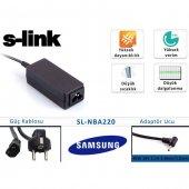S Link Sl Nba220 40w 19v 2.1a 3.0mm 1.0mm Samsung Ultrabook Standart Adaptör