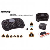 Everest Kb 252w Siyah 2.4ghz Mini + Toucpad Q Multimedia Kablosuz Klavye