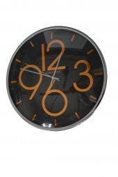 Time Gold Duvar Saati Plastik Çerçeve Bombeli Gerçek Cam 36 Cm