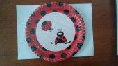 Doğum Günü Partisi Karton Tabağı Uğur Böceği 8 Adet