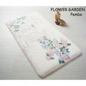 Confetti Flower Garden Kaymaz Banyo Paspası Halısı 80x140 Pembe