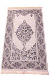 Lüks Açık Renk Osmanlı Tafta Seccade 0210 Lacivert
