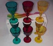 Paşabahçe 96523 Dıamond Renkli 6lı Ayaklı Kahve Yanı Su Bardağı
