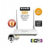 Tenda D301 4port Wifi N 300mbps Adsl2+ Modem+usb
