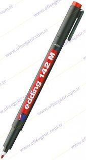 Edding 142m Permanent Asetat Kalemi Kırmızı 1.0mm