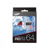 Samsung 64gb Microsd Pro Plus Class10 95mb Sn Hafıza Kartı + Sd A