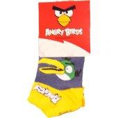 şirin Angry Birds Desenli Çocuk Çorap 2+3 Yaş Tekli Model 5