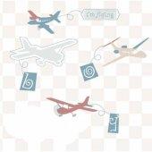 Uçaklı Duvar Kağıdı Zdk7710