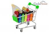 Gadahome Minyatür Alış Veriş Arabası 3 Adet