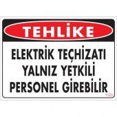 Pvc Levha Tehlike Elektrik Teçhizatı Yalnız Yetkili Personel Girebilir