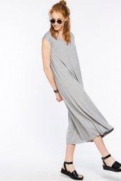 Pescara Gri Basic Elbise
