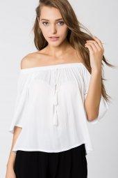 Andria Beyaz Bluz