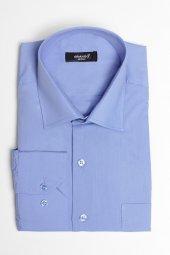 Brango 12001 10 Klasik Düz Mavi Gömlek