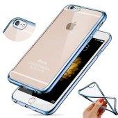 Apple İphone 6 6s Kılıf Silikon Transparan Kapak Mavi