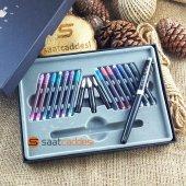 Steel Pen Kaligrafi Siyah Kalem Seti İsme Özel