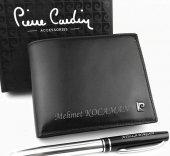 Kişiye Özel Pierre Cardin Gerçek Deri Cüzdan + Kalem Hediyeli