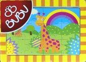 Bu Bu 12 Parça Ahşap Zürafa Puzzle 20x14 Cm