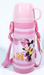 Disney Minnie Mouse Termos Çelik Matara (Bardaklı)
