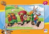 Ks Games 24 Parça Frame Çocuk Puzzle Looney Tunes
